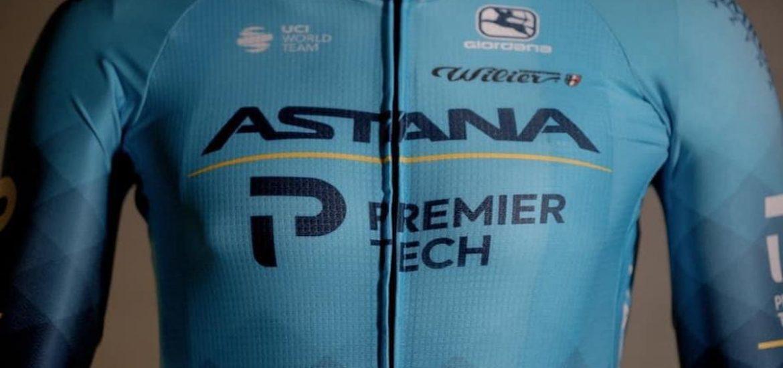 maglia ciclismo Astana in line